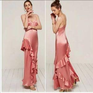 Reformation Rose Dress NWT Size 2 Silk Maxi Dress